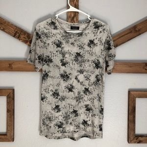 Zara Man flower t shirt